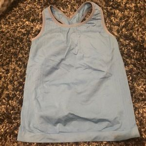 Tops - blue exercise tank top
